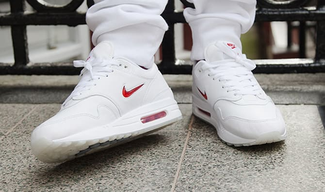 Nike Air Max 1 Jewel White Red Medial