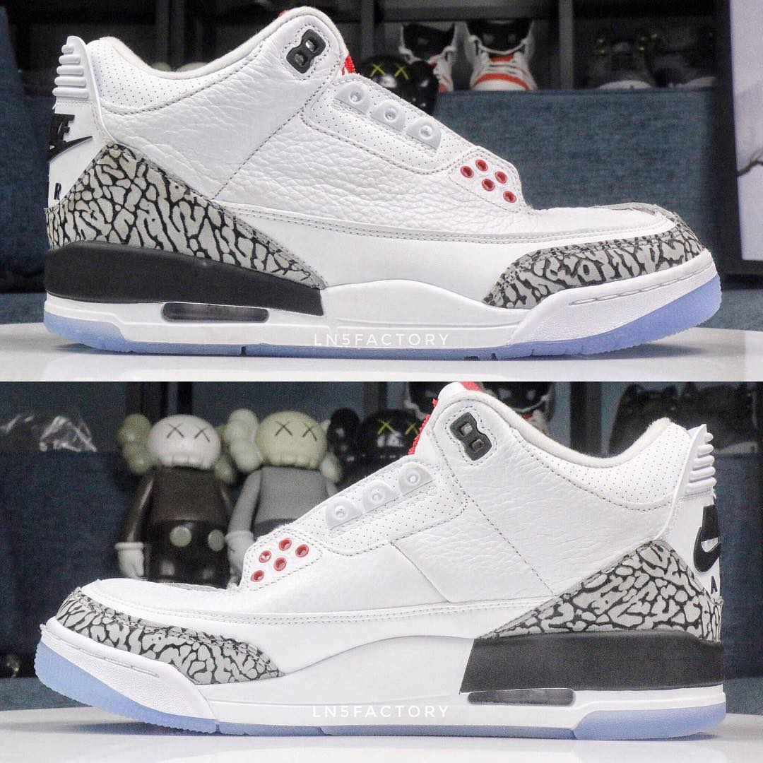 Air Jordan 3 III Clear Sole 2018 Release Date 923096-101 Profile