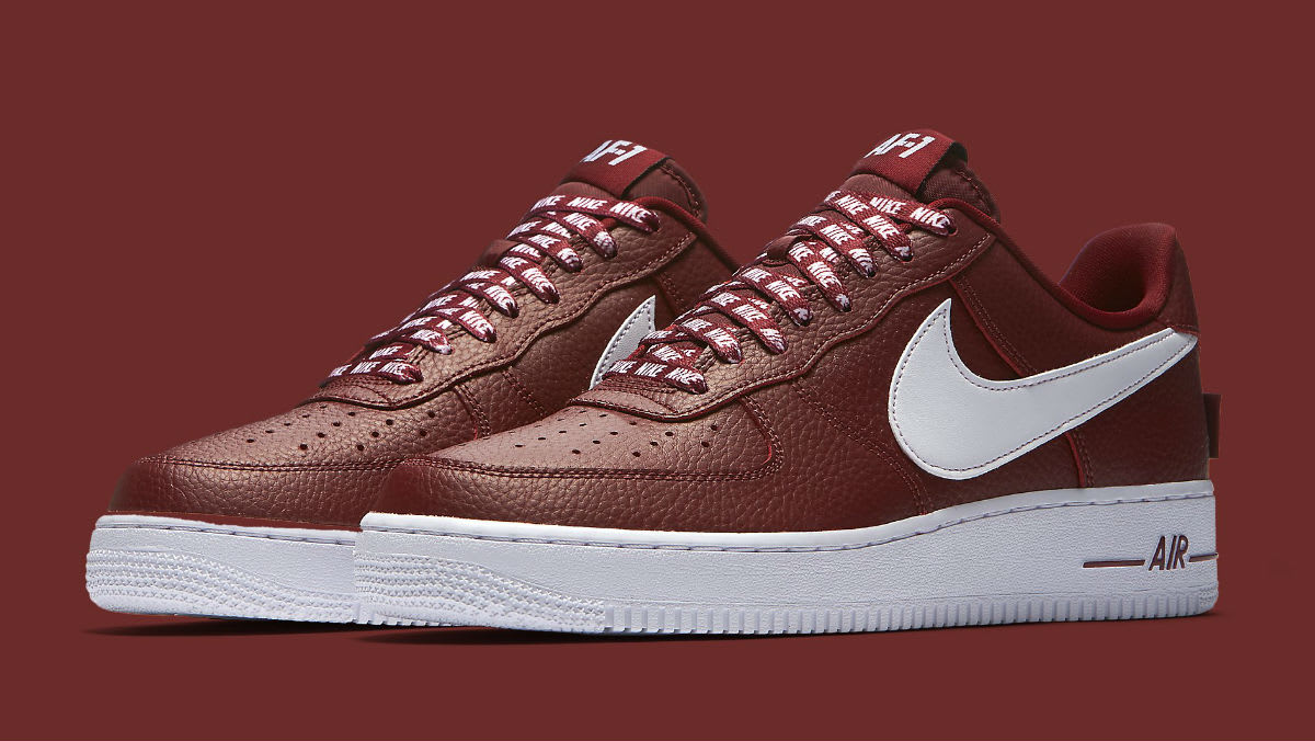 Nike Air Force 1 Low NBA Statement Game Burgundy Release Date 823511-605