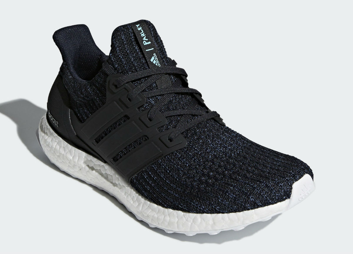 Parley x Adidas Ultra Boost Legend Ink Carbon Core Black Release Date AC7836 Front