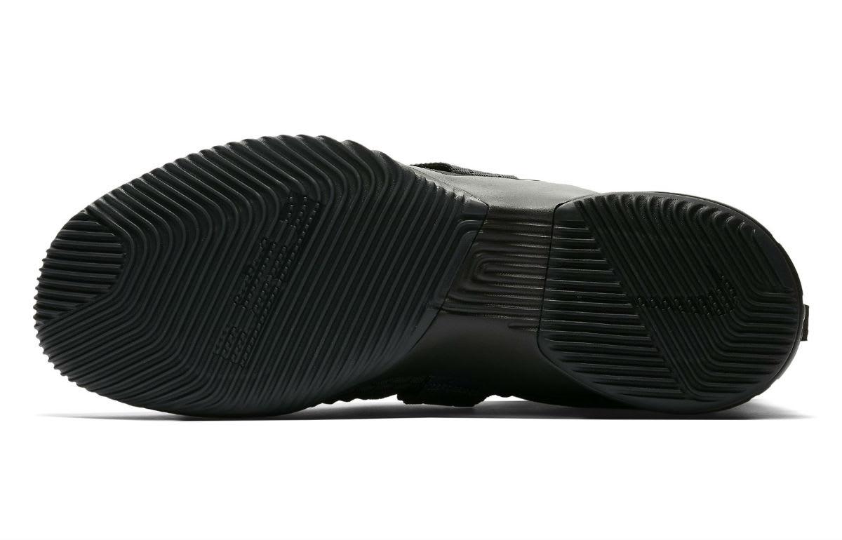 Nike LeBron Soldier 12 XII Zero Dark Thirty Triple Black Release Date AO4054-002 Sole