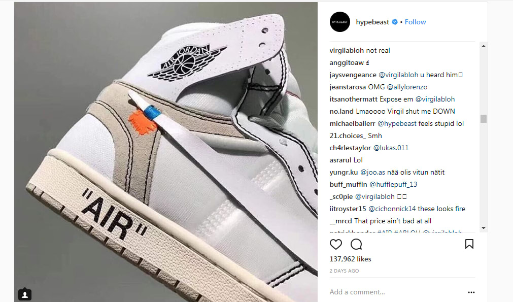 Virgil Abloh Fake Jordans