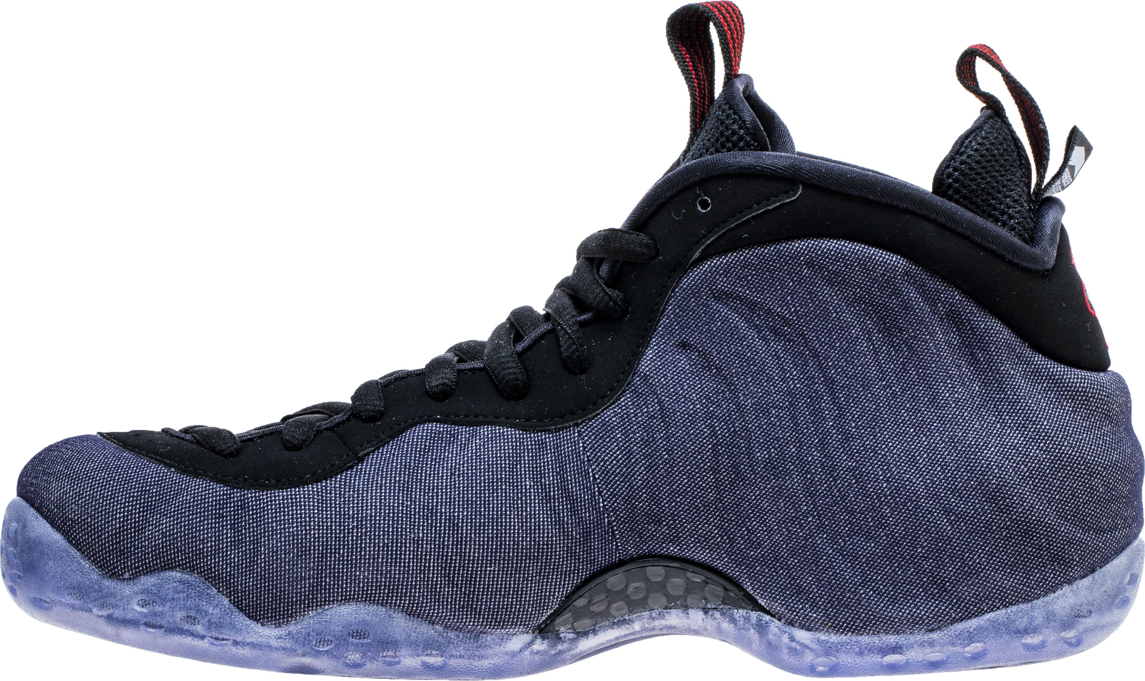 611c3559cac Image via Shoe Palace Nike Air Foamposite One  Denim  314996-404 (Medial)