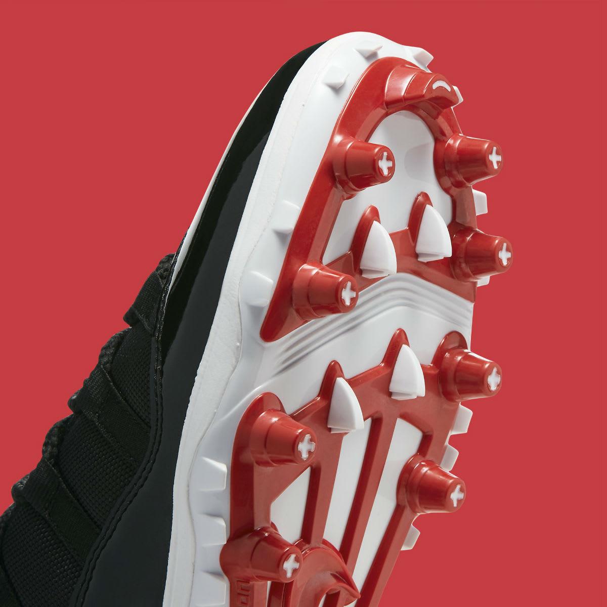 Air Jordan 11 XI Cleats Bred Release Date AO1561-010 Plate