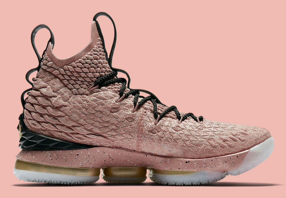 Nike LeBron 15 All-Star Pink Release Date 897650-600 Medial