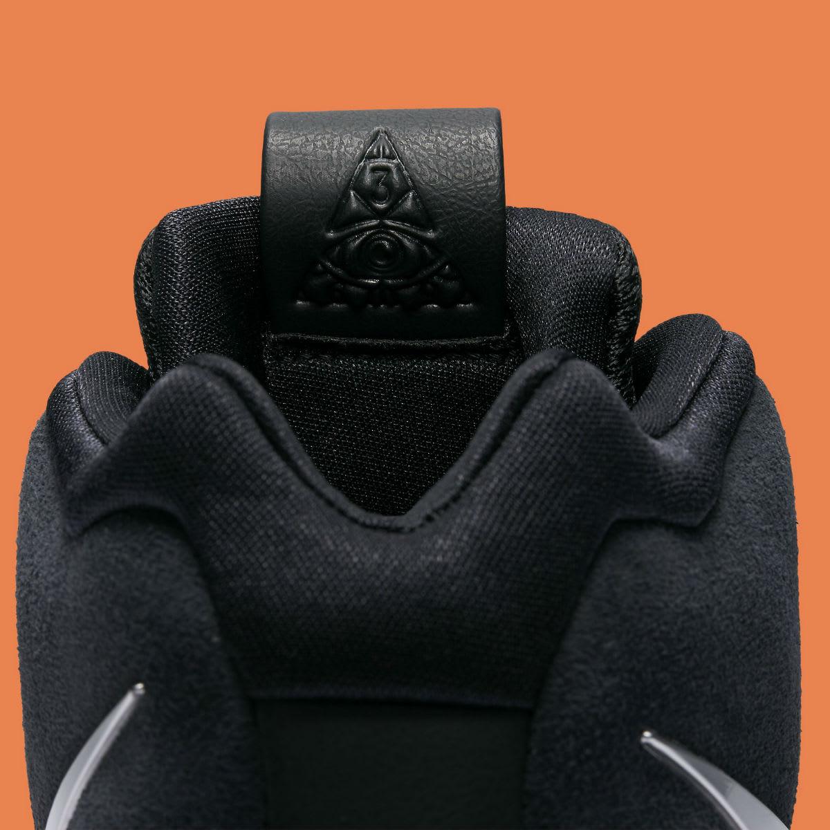 Nike Kyrie 4 Black/Silver-Orange Release Date 943806-010 Tongue