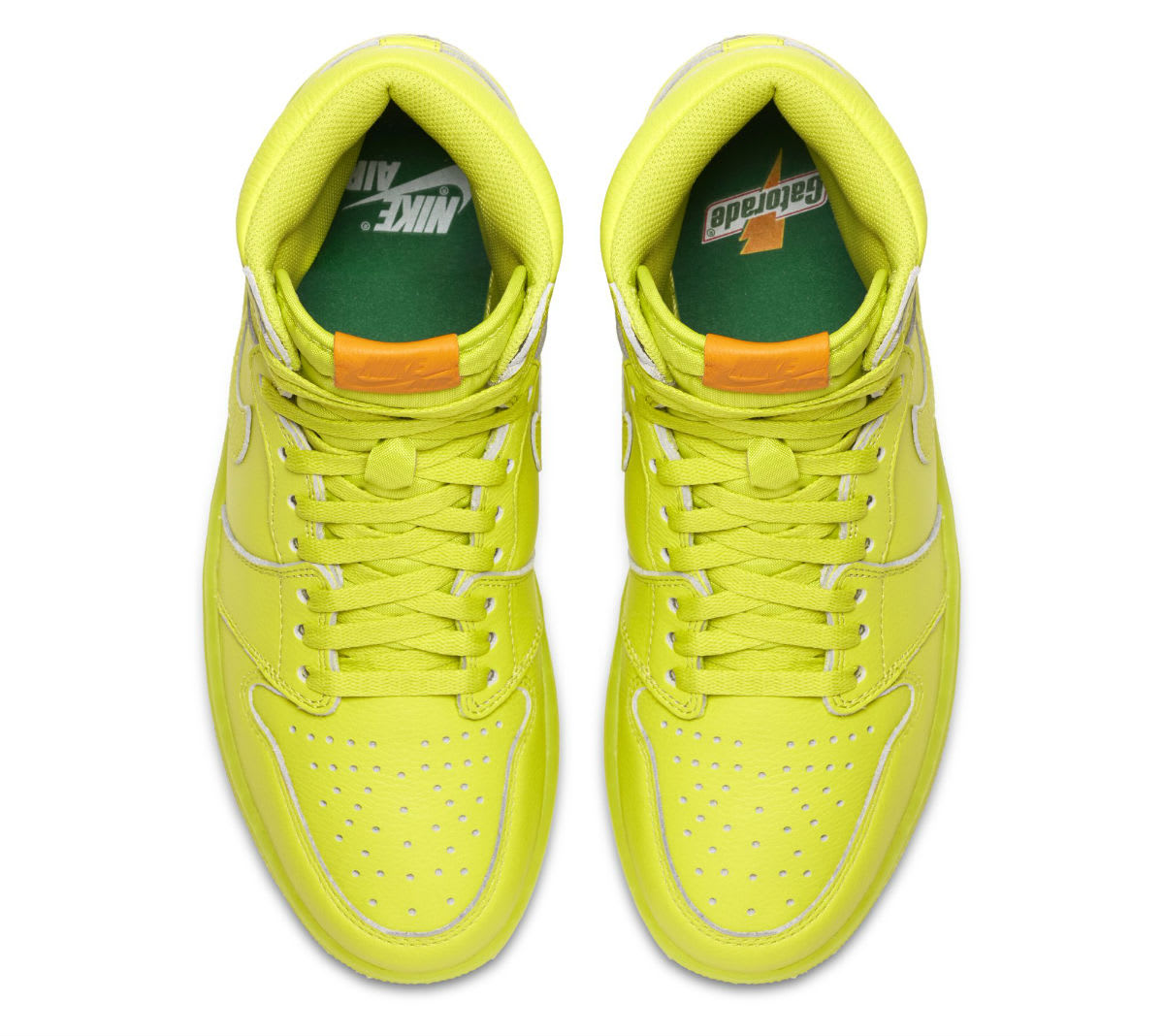 Air Jordan 1 Gatorade Cyber Yellow Lime Release Date AJ5997-345 Top