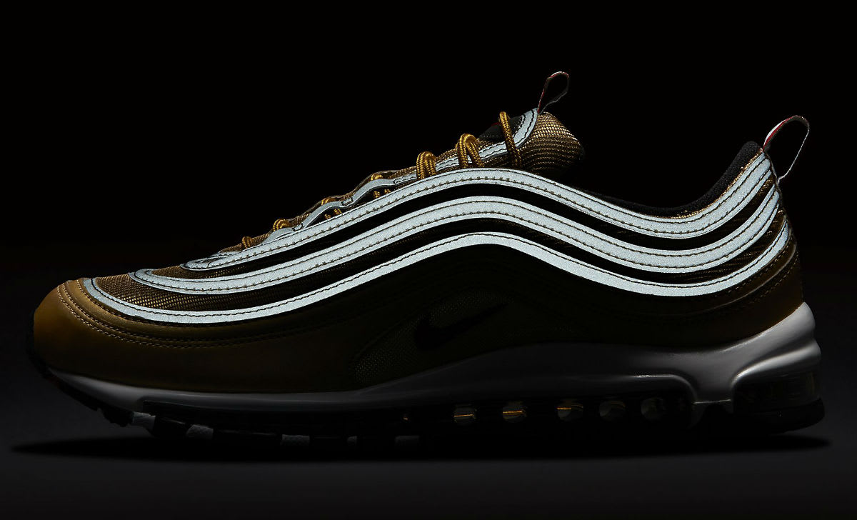 Nike Air Max 97 Italy Flag Gold Release Date AJ8056-700 3M