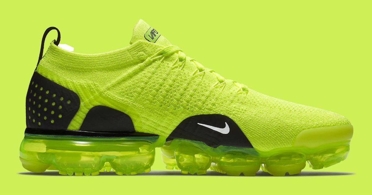 Nike Air VaporMax Flyknit 2 Volt Release Date 942842-700 Medial