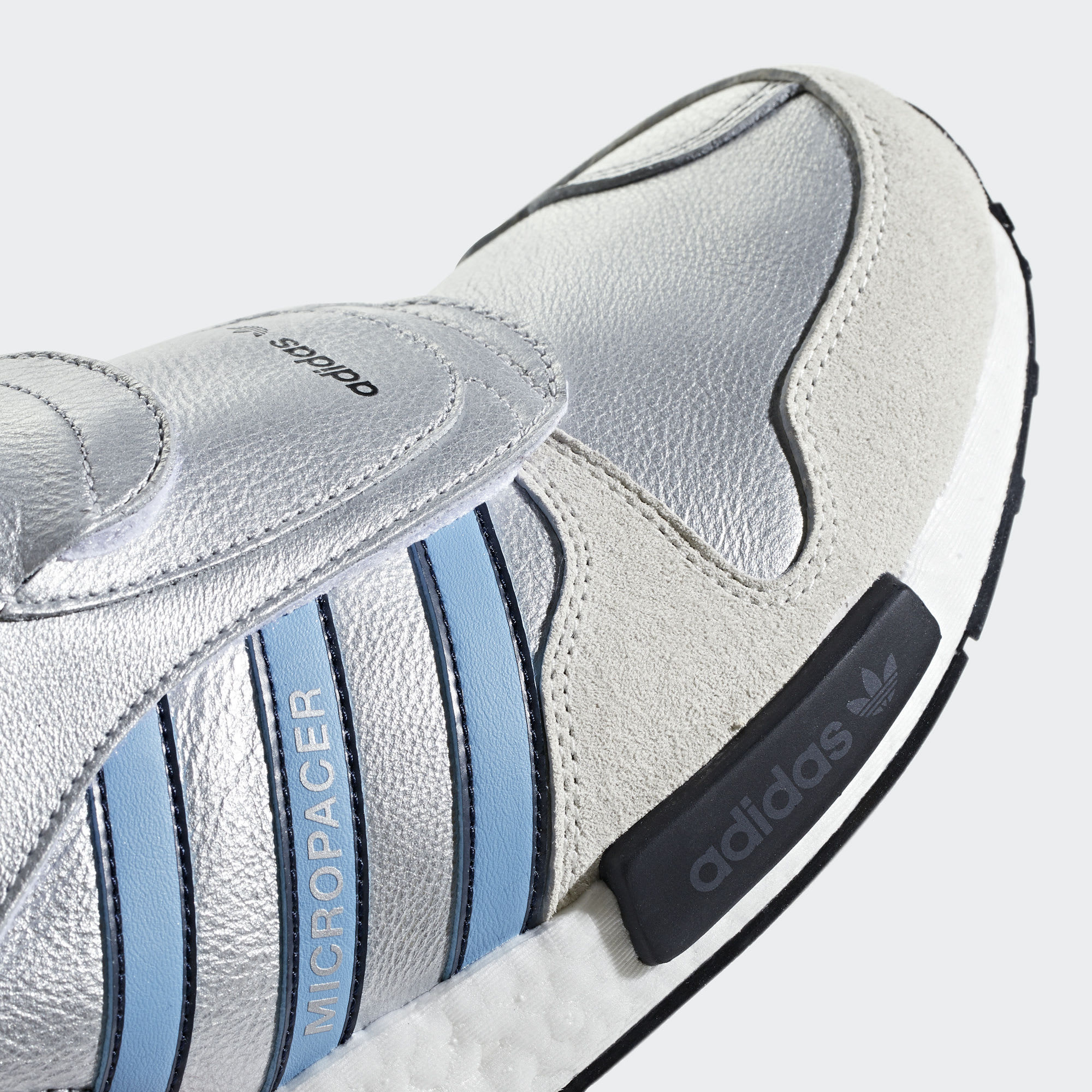 Adidas Micropacer NMD R1 Silver Release Date G26778 Toe