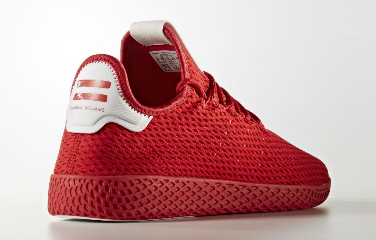 Pharrell x Adidas Tennis Hu Red & Navy Release Date