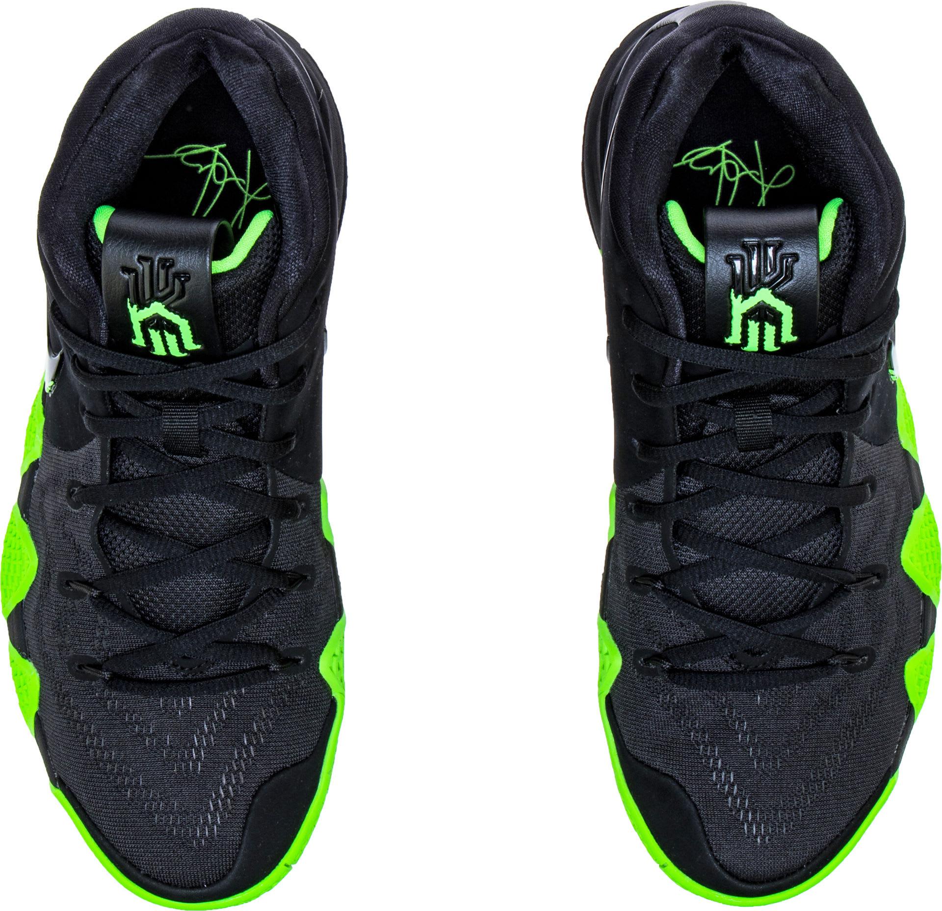 Nike Kyrie 4 Black Rage Green Halloween Release Date 943806-012 Top