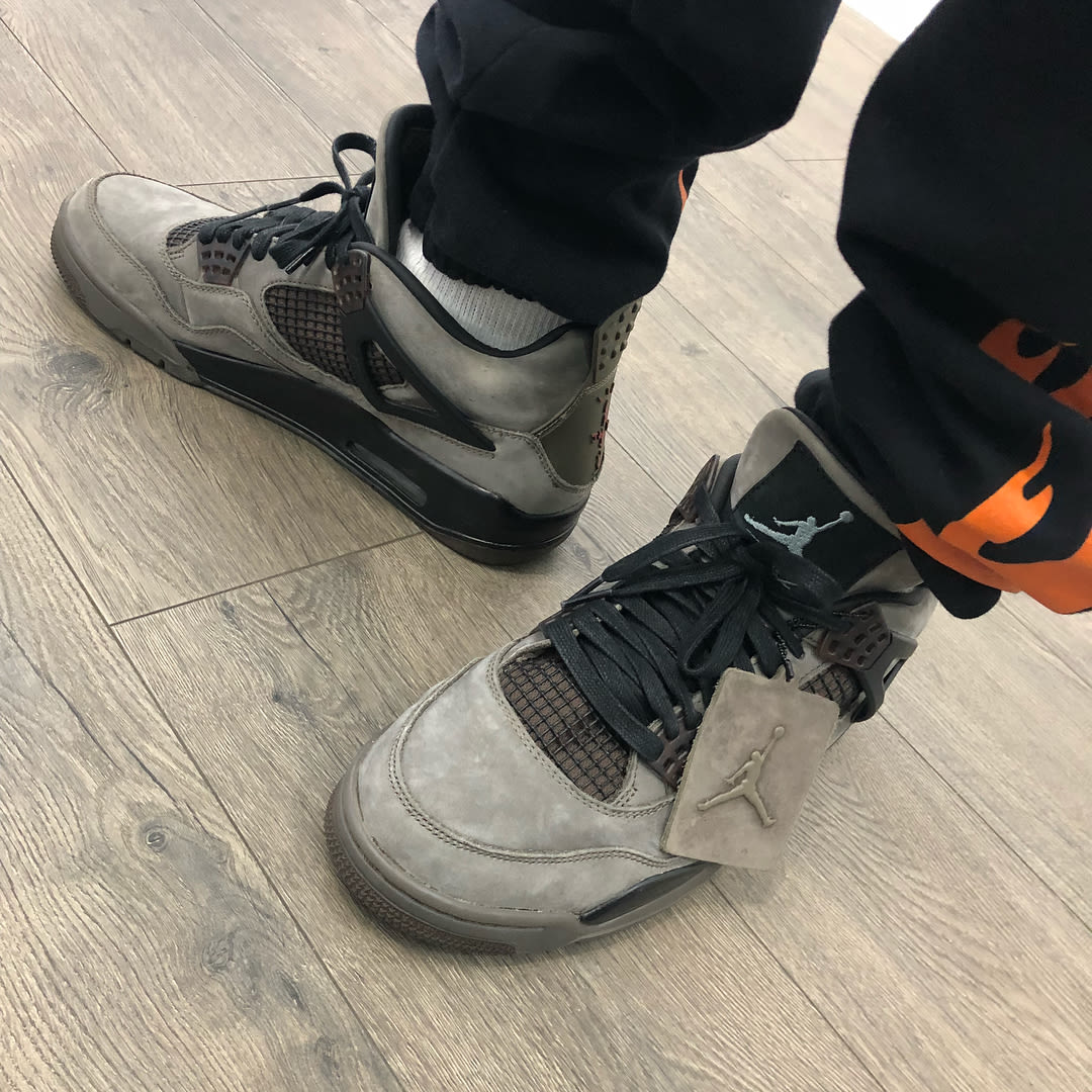 e0e7aab2a29b9e Another colorway of the  trvisXX x Air Jordan 4 spotted.