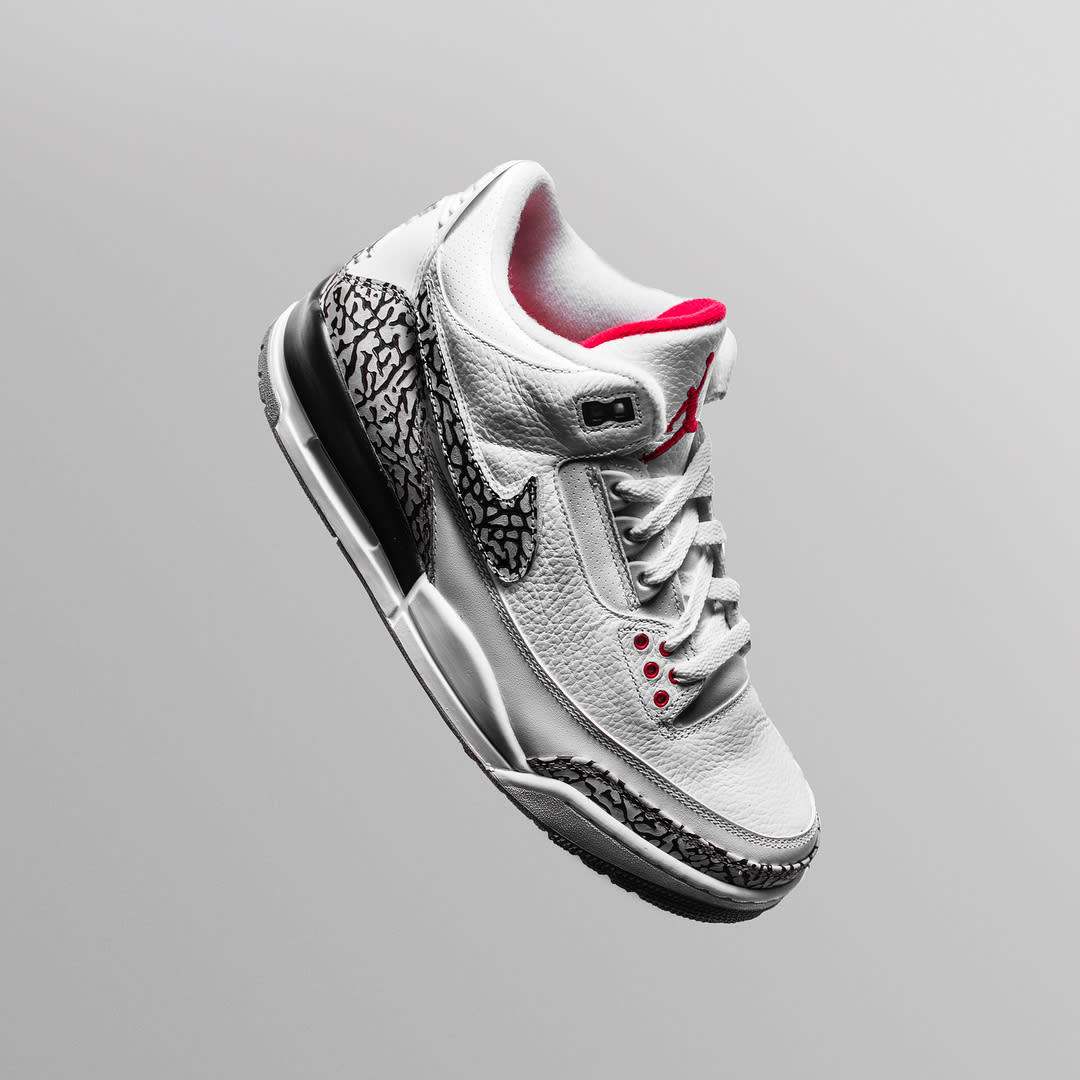 The Shoe Surgeon x Cement Air Jordan 3 Interchangeable Swoosh Custom Elephant