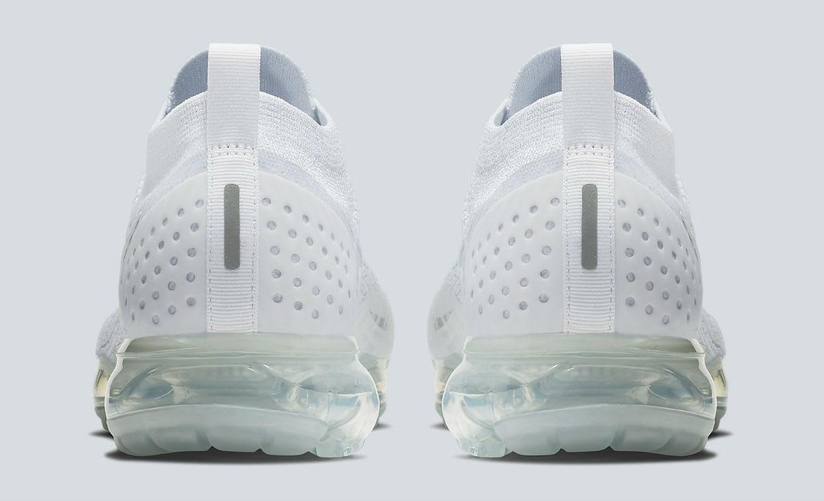 Nike Air VaporMax 2 White Pure Platinum Release Date 942842-100 Heel