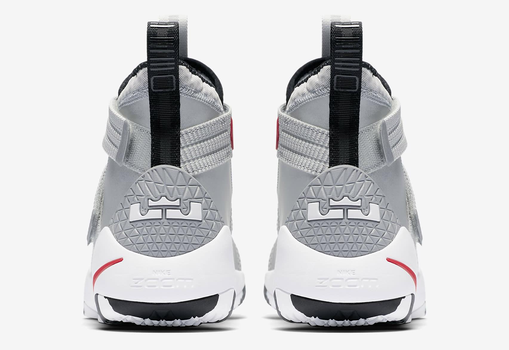 Silver Bullet Nike LeBron Soldier 11 897646-007 Heel