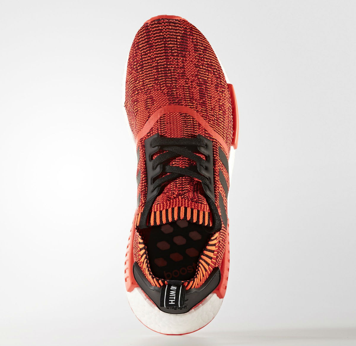 071d55b39a215 2017 adidas NMD R1 Primeknit Red Apple NYC Bright Red White-Black For Sale