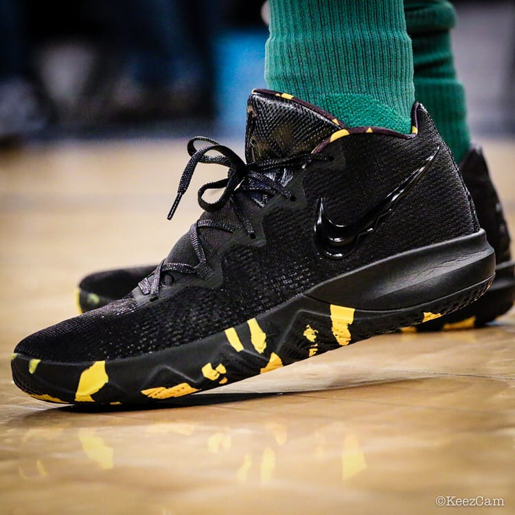 Kyrie Irving Nike Kyrie Budget Core Black Yellow Left Profile