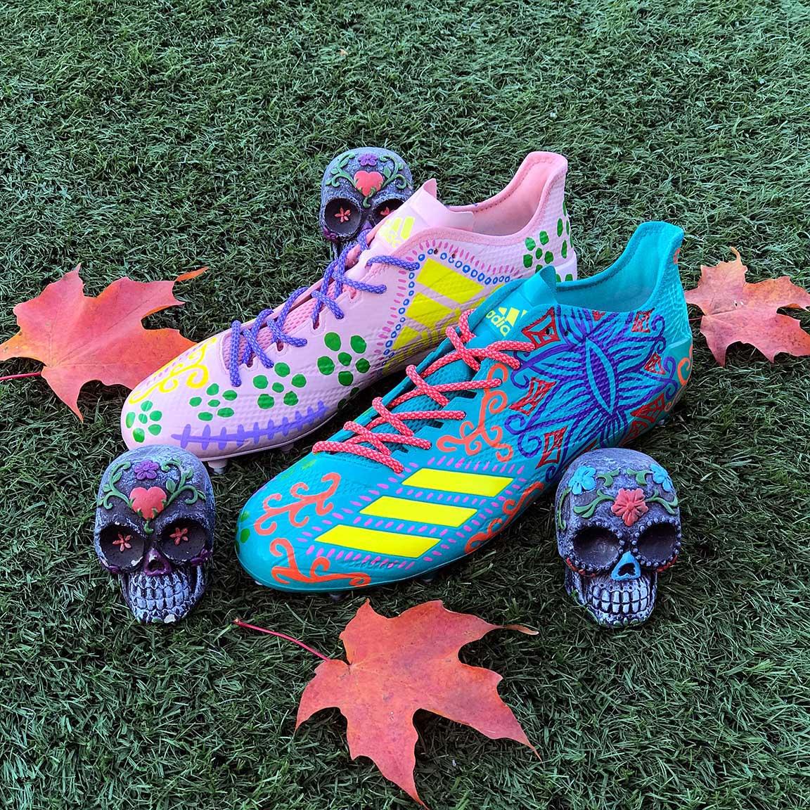 Adidas Adizero DeAndre Hopkins Halloween Cleats Front