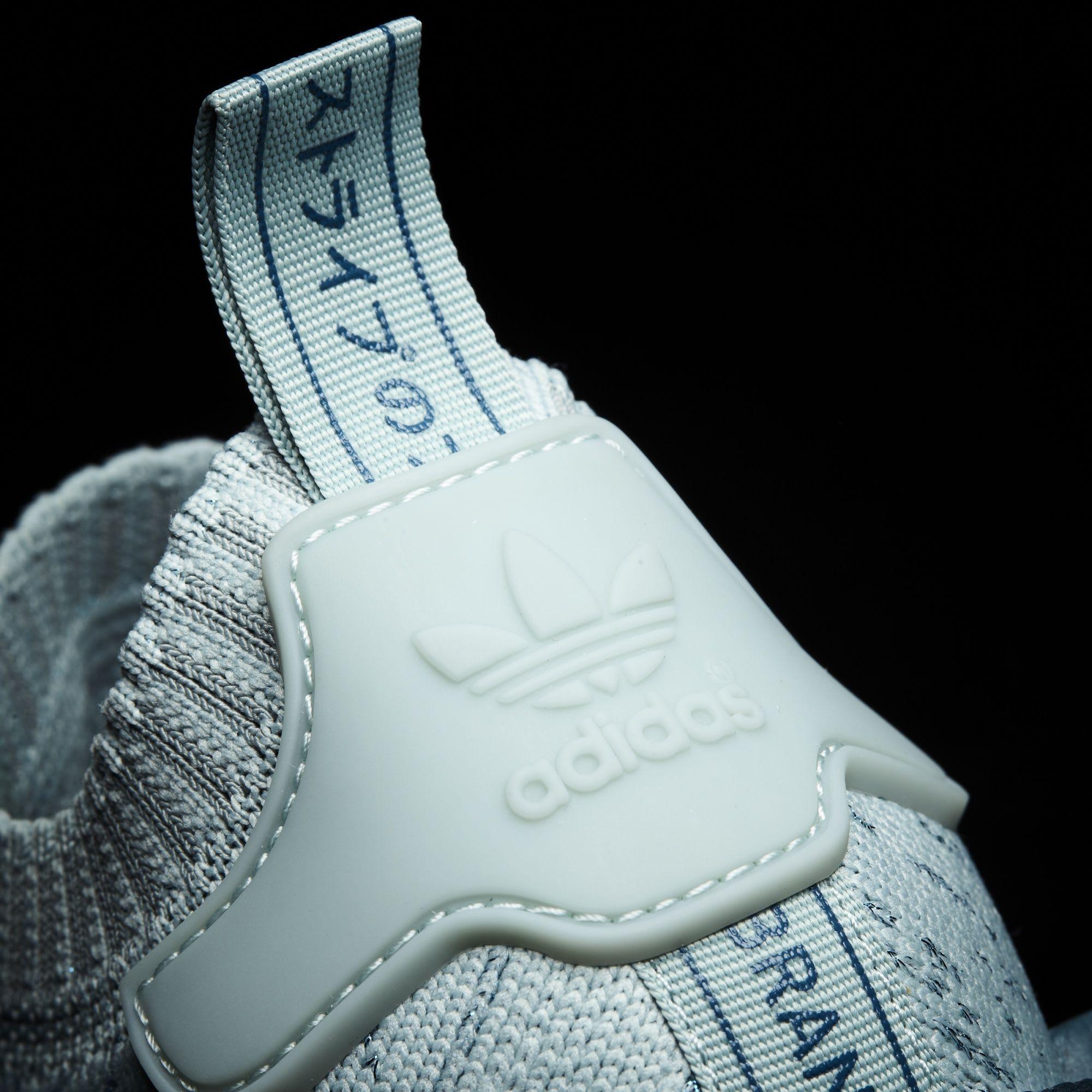 Adidas NMD Blue Grey Glitch Boost CG3601 Heel Detail