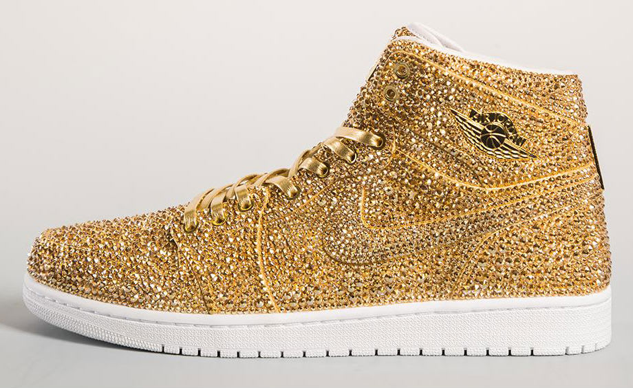 Crystal Air Jordan 1 Gold by Daniel Jacob
