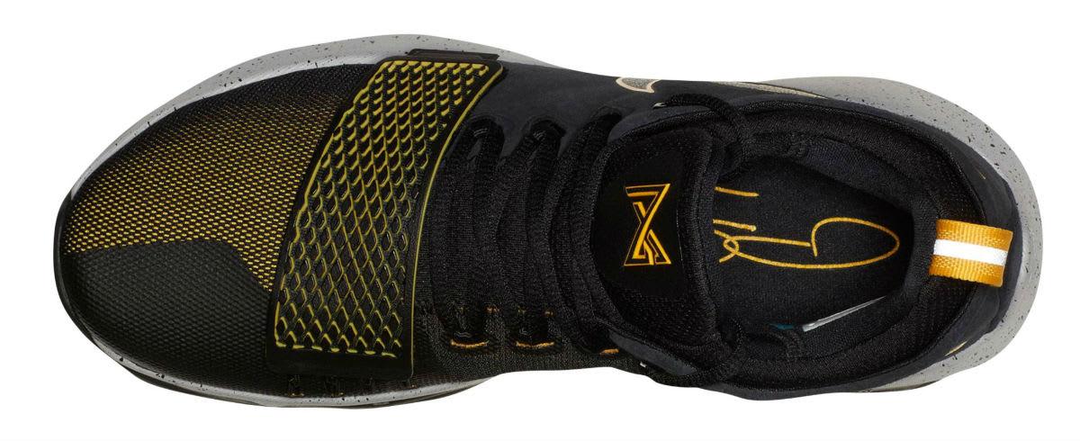 Nike PG1 Black University Gold Wolf Grey Release Date 878627-006 Top