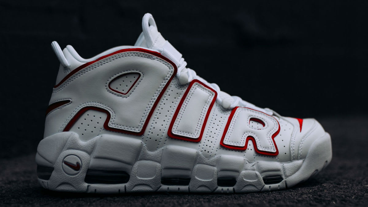 Nike Air More Uptempo Varsity Red Release Date 921948-102 Profile