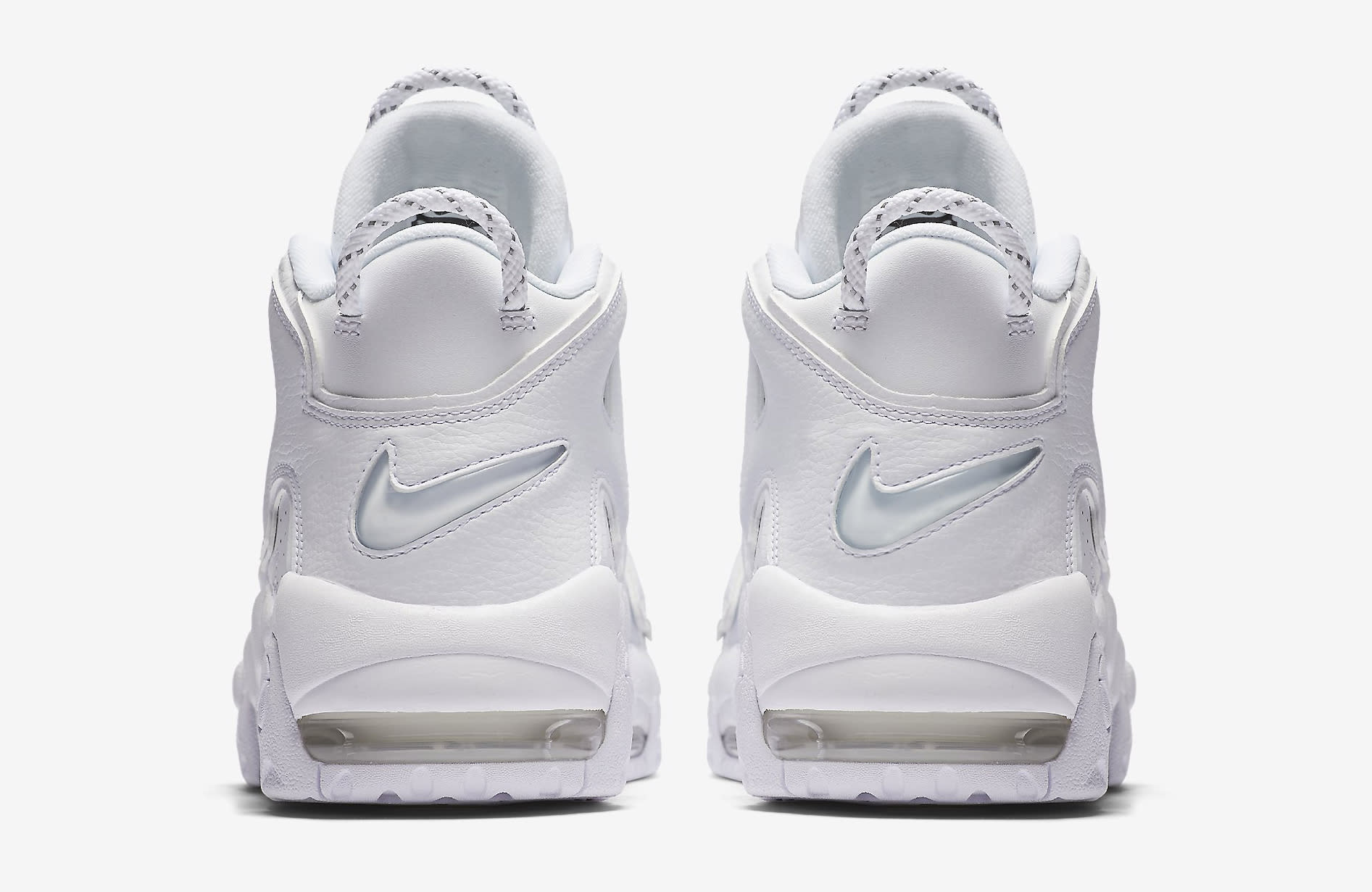 Triple White Nike Air More Uptempo 921948-100 Heel