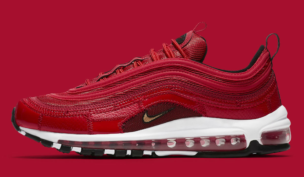 Nike Air Max 97 Patchwork CR7 Ronaldo Red Release Date AQ0655-600 Profile