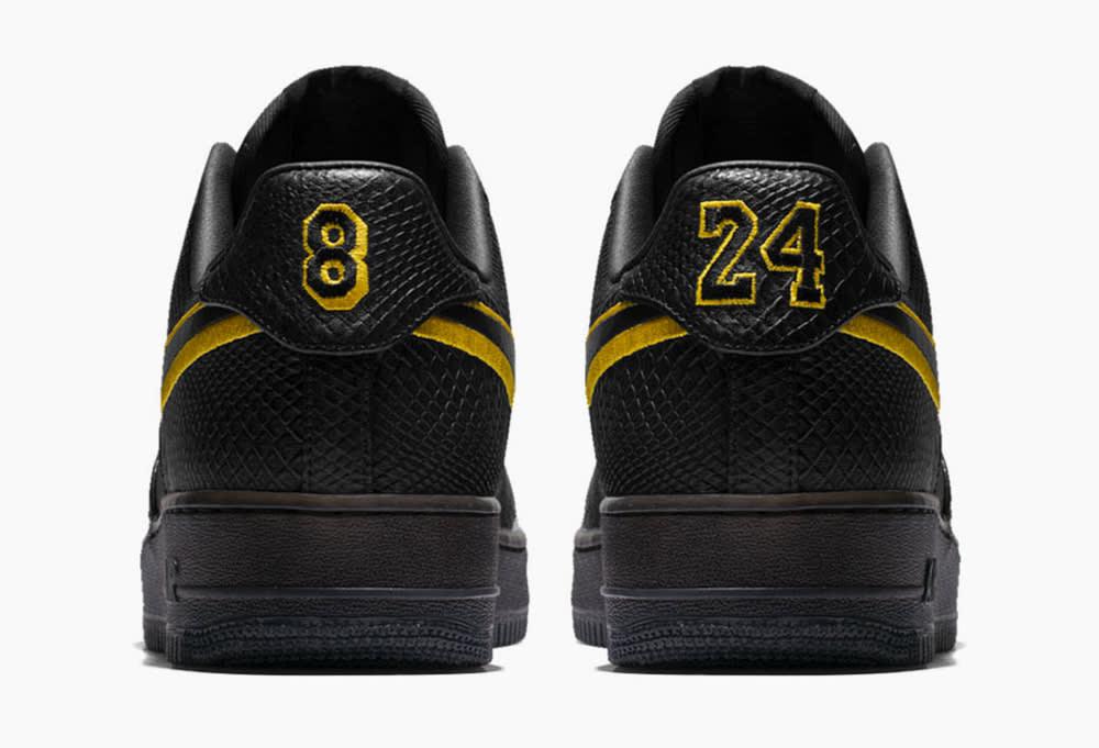 Nike Kobe Air Force 1 Black Mamba Heel