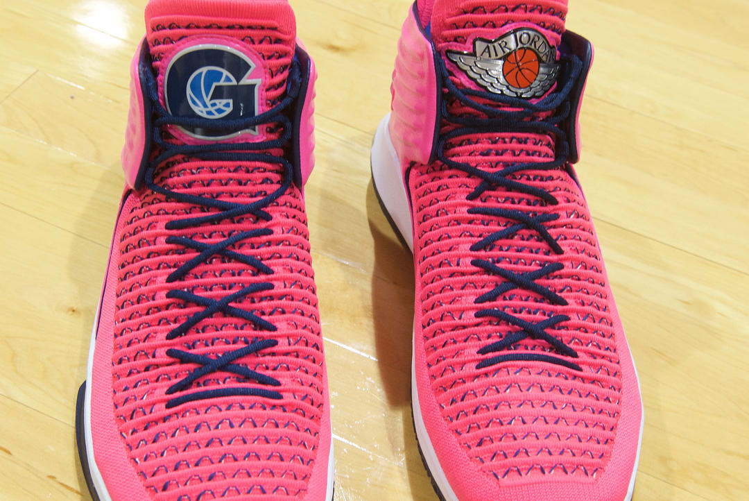 Air Jordan 32 Pink Georgetown Men Against Breast Cancer PE Front