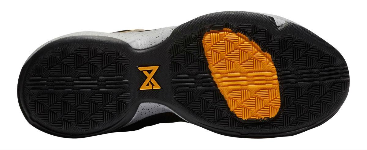 Nike PG1 Black University Gold Wolf Grey Release Date 878627-006 Sole