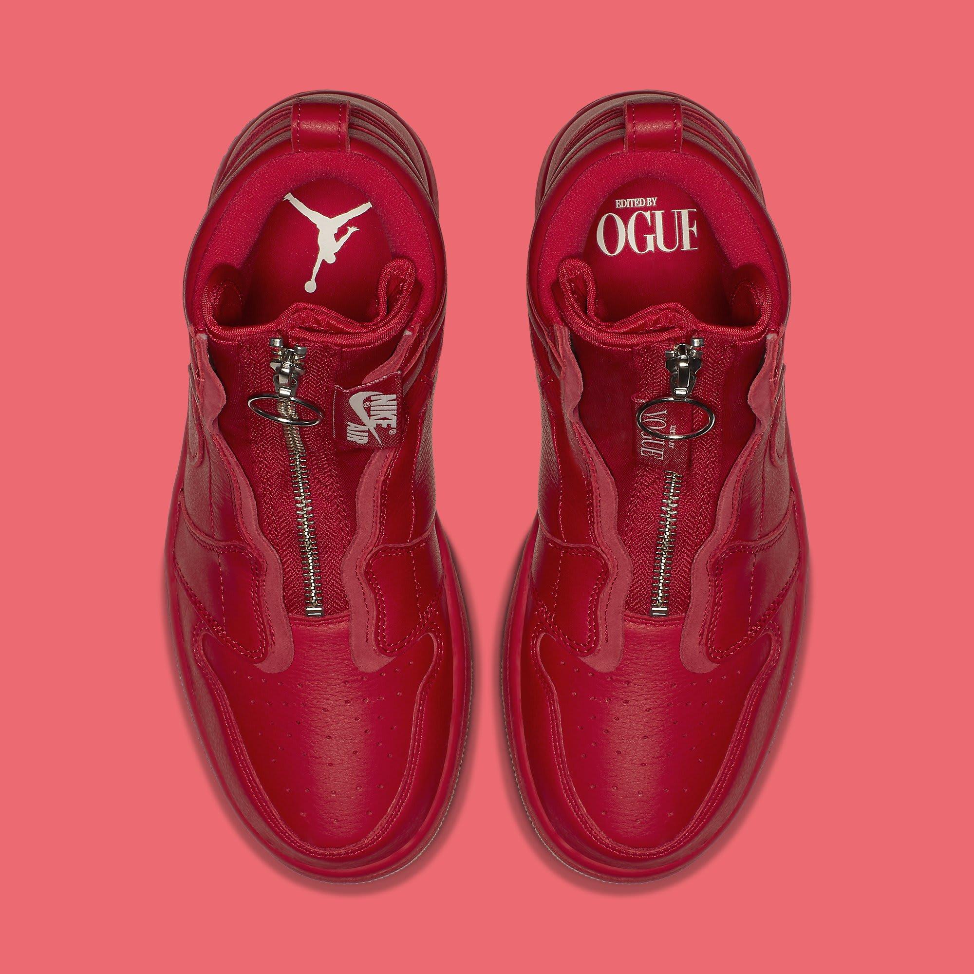 Vogue x Air Jordan 1 Zip AWOK University Red Top