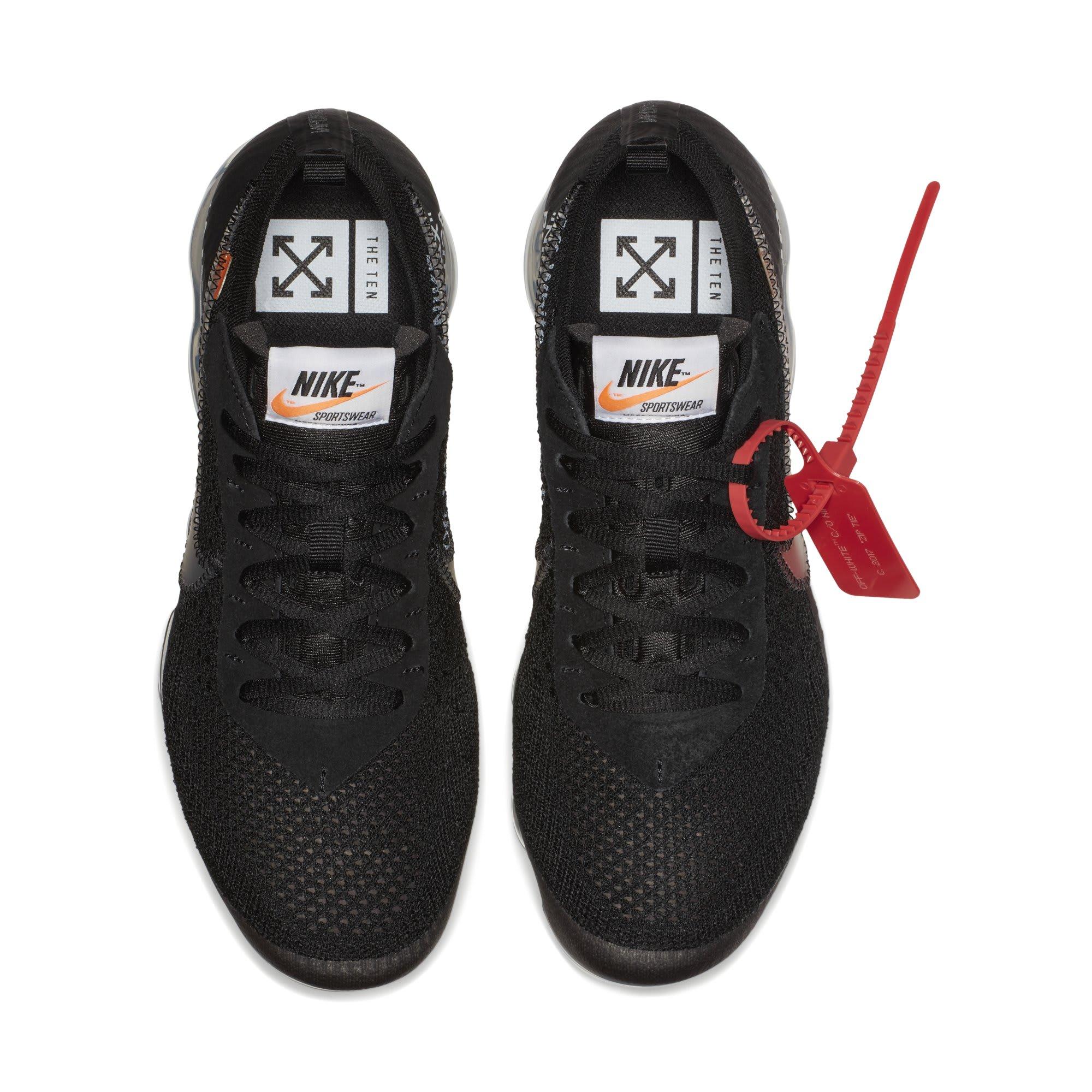 Off-White x Nike Air VaporMax 'Black' AA3831-002 (Top)