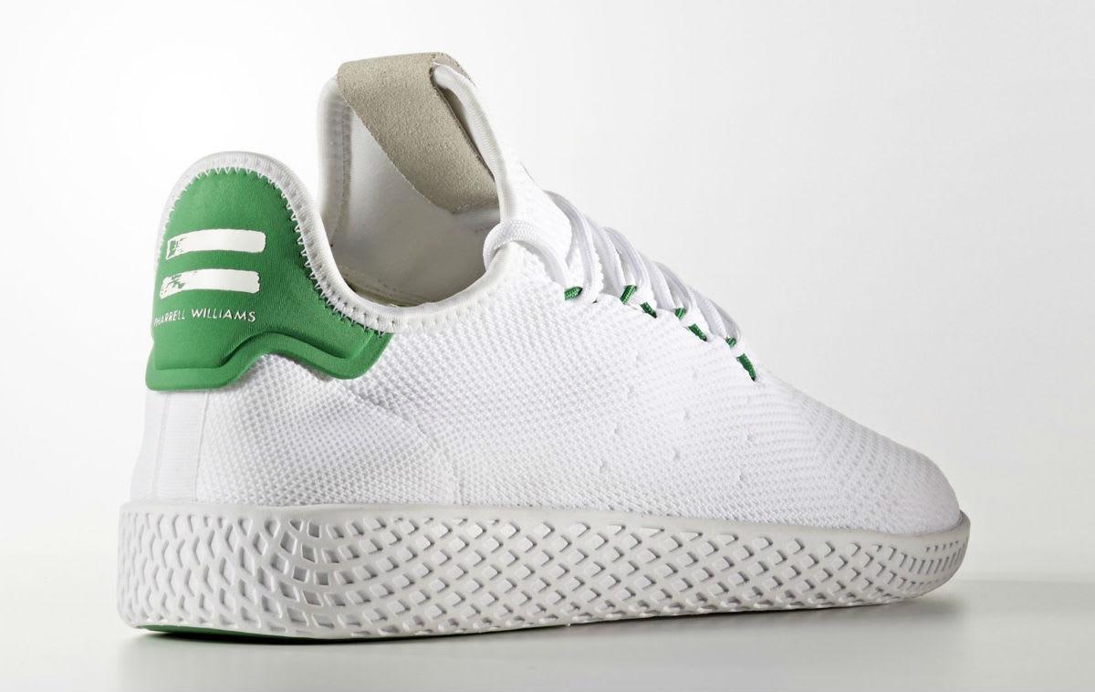 5f863415ad6 ... cheap pharrell x adidas tennis hu white green release date lateral  ba7828 8185f 303a8