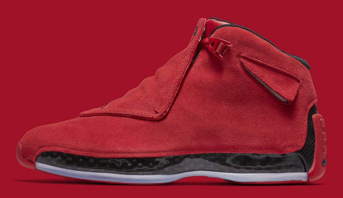 3332de6fed1b Air Jordan 18 Gym Red Toro 2018 Release Date AA2494-601 - Hunnid Grind