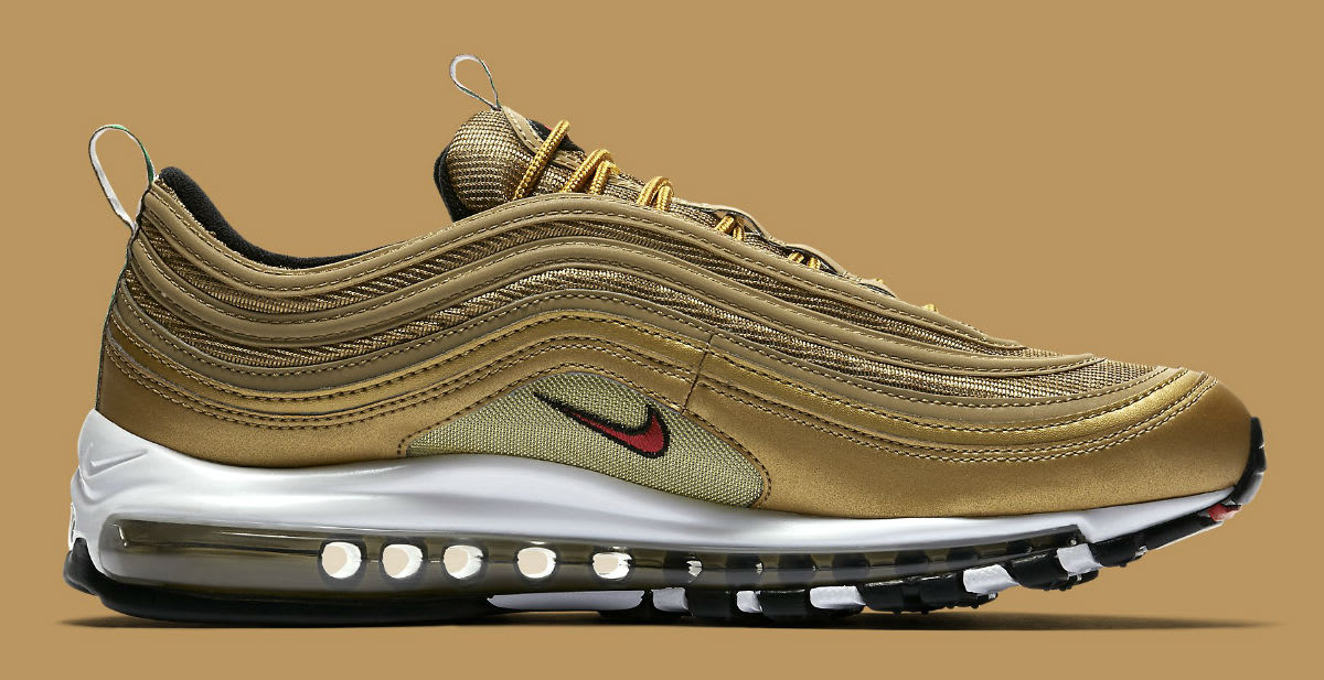 Nike Air Max 97 Italy Flag Gold Release Date AJ8056-700 Medial