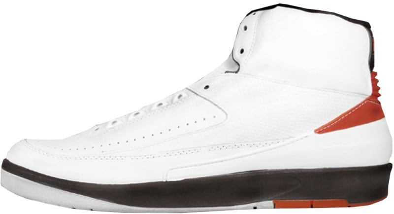 Air Jordan 2 White Black Red