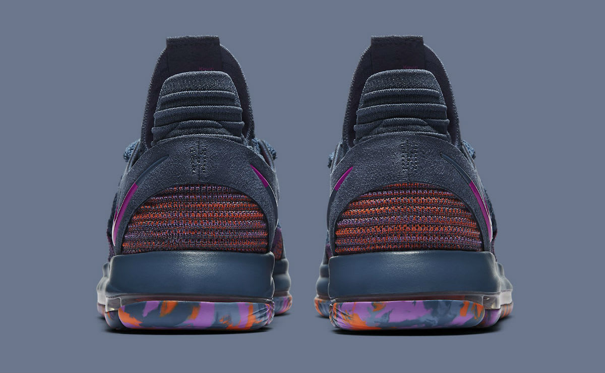 Nike KD 10 All-Star Release Date 897817-400 Heel