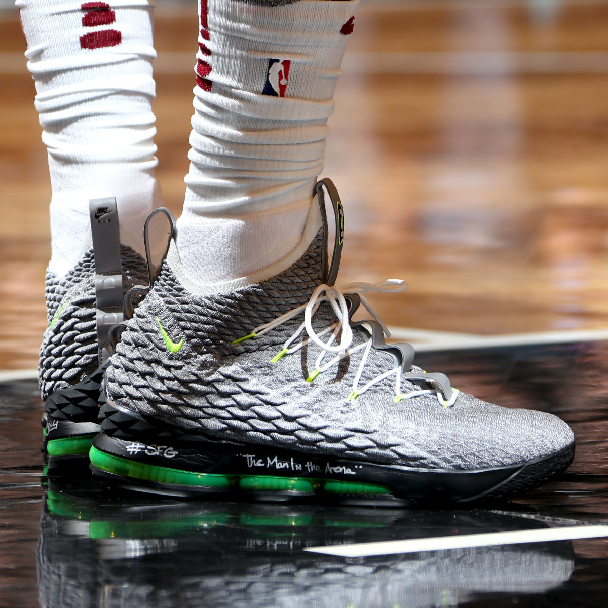 426b5df4ffd ... On Feet Shots Of LeBron James Nike LeBron 15 Air Max 95  cheap for sale  ...