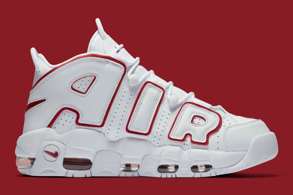 Nike Air More Uptempo Varsity Red Release Date 921948-102 Medial