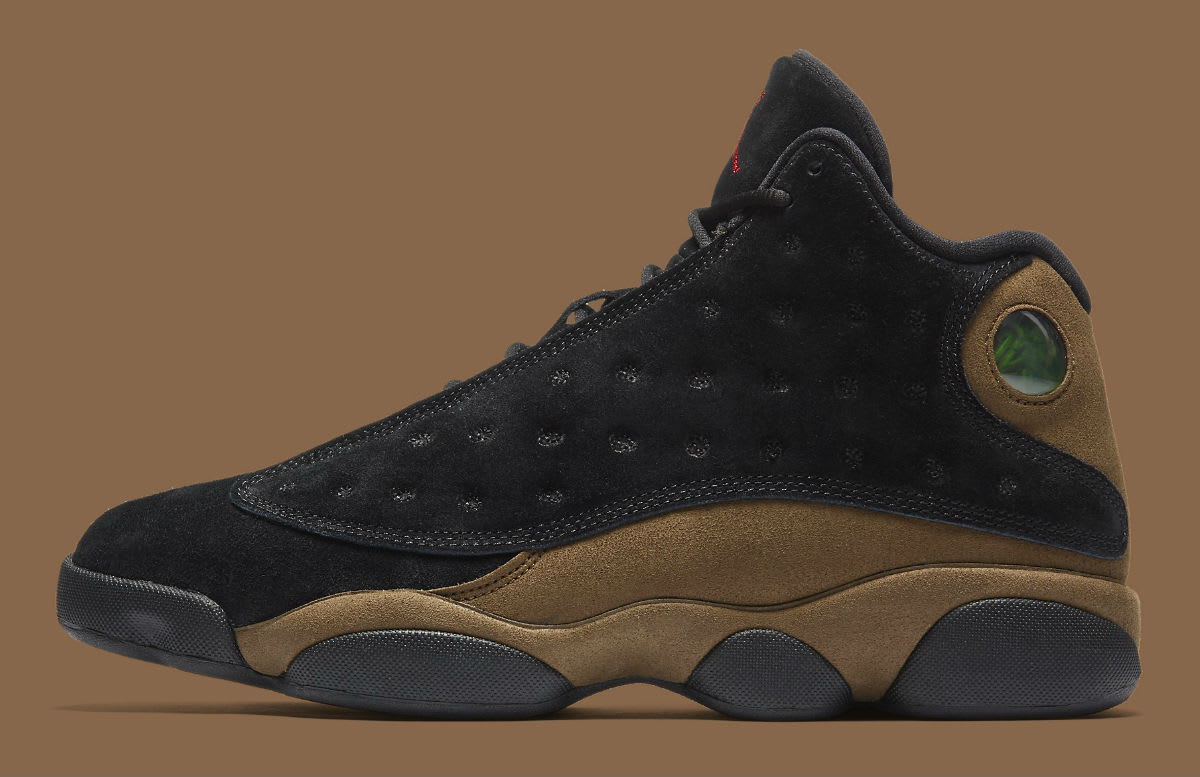 Air Jordan 13 XIII Olive Release Date 414571-006 Profile