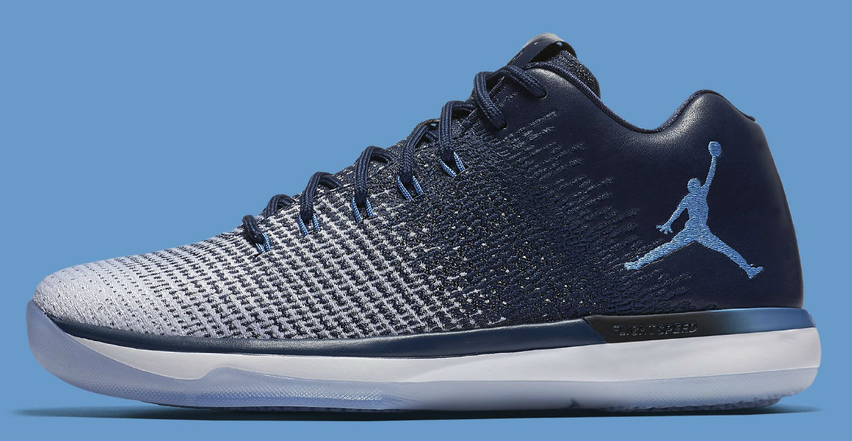 Air Jordan 31 Low UNC Navy Release Date Profile 897564-400