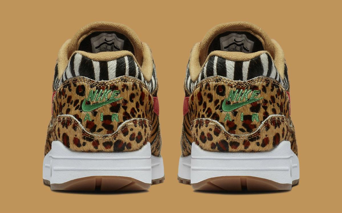Atmos x Nike Air Max 1 Animal Pack Release Date AQ0928-700 Heel