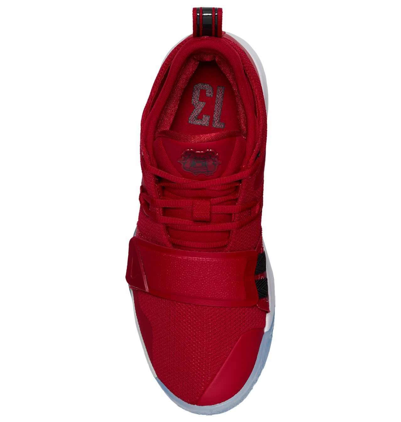 cd1ba1074e3f Image via US11 · Nike PG 2.5  Fresno St. Bulldogs  Gym Red Dark  Obsidian-White