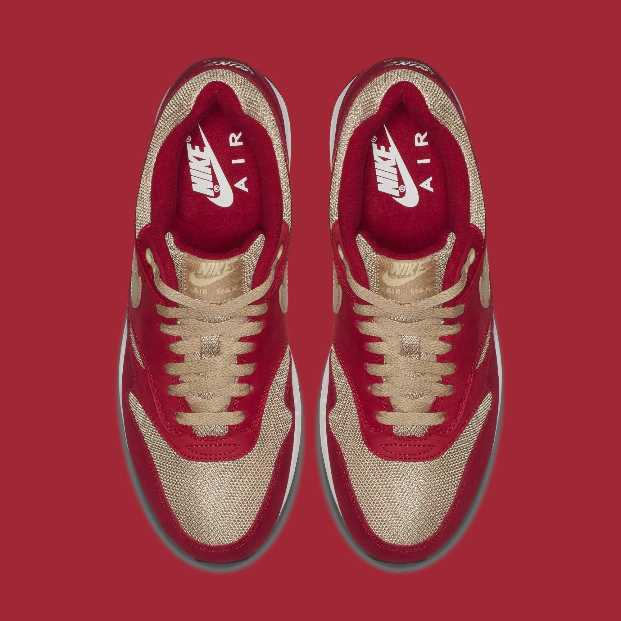 Atmos x Nike Air Max 1 'Red Curry' 908366-600 (Top)