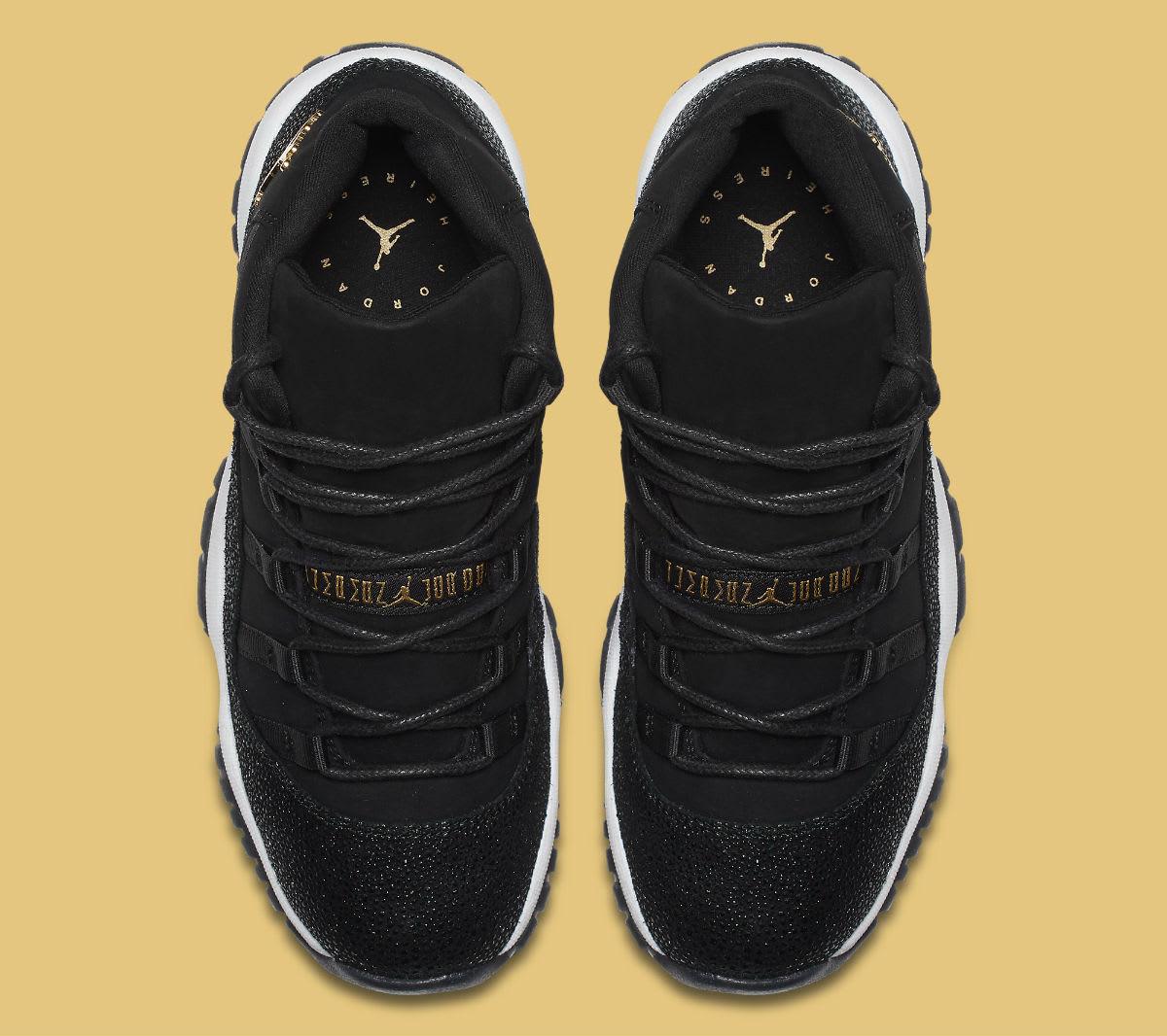Air Jordan 11 XI Heiress Black Release Date 852625-030 Top