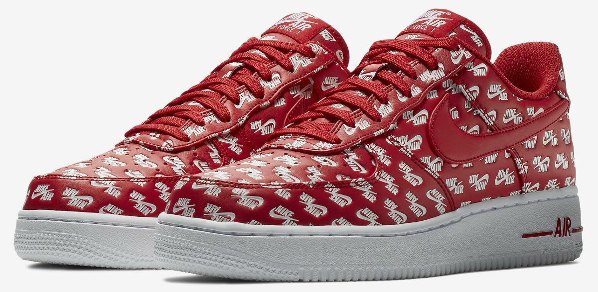 Nike Air Force 1 Low Logos Pack Red Release Date AH8462-600