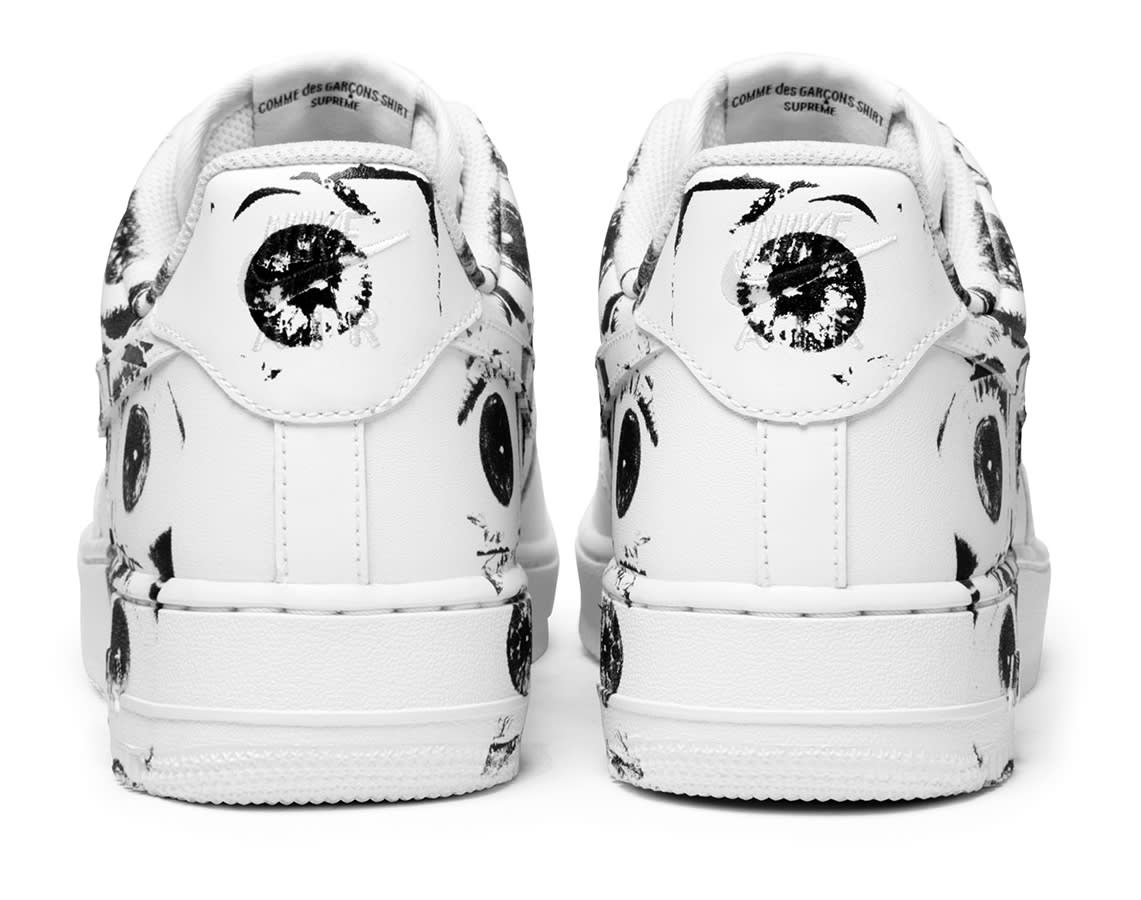 Supreme CDG Nike Air Force 1 Low Heel