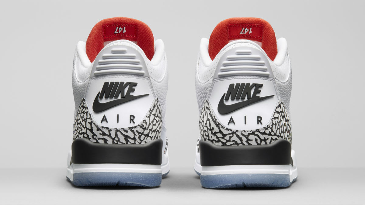 Air Jordan 3 III Clear Sole Release Date 923096-101 Heel